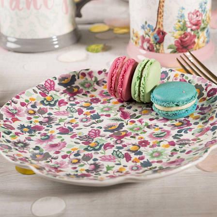 Тарелка десертная BLOOMING FANCY All Over, керамика, диам. 20,5 см, фото 2