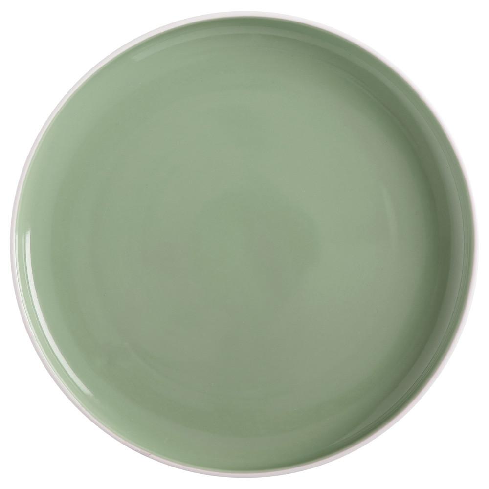 Тарелка обеденная TINT mint фарфоровая, диам. 20 см