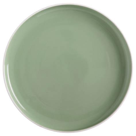 Тарелка обеденная TINT mint фарфоровая, диам. 20 см, фото 2