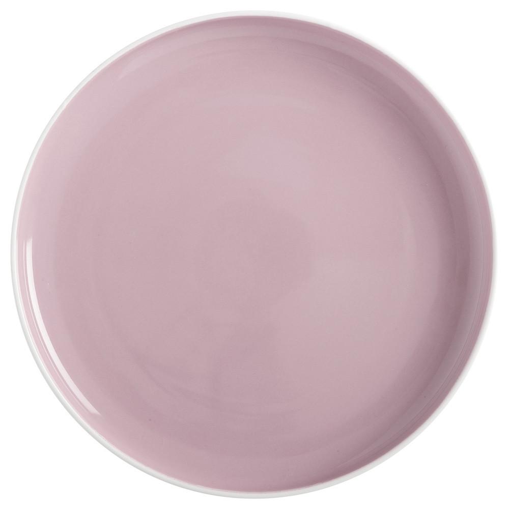 Тарелка обеденная TINT rose фарфоровая, диам. 20 см
