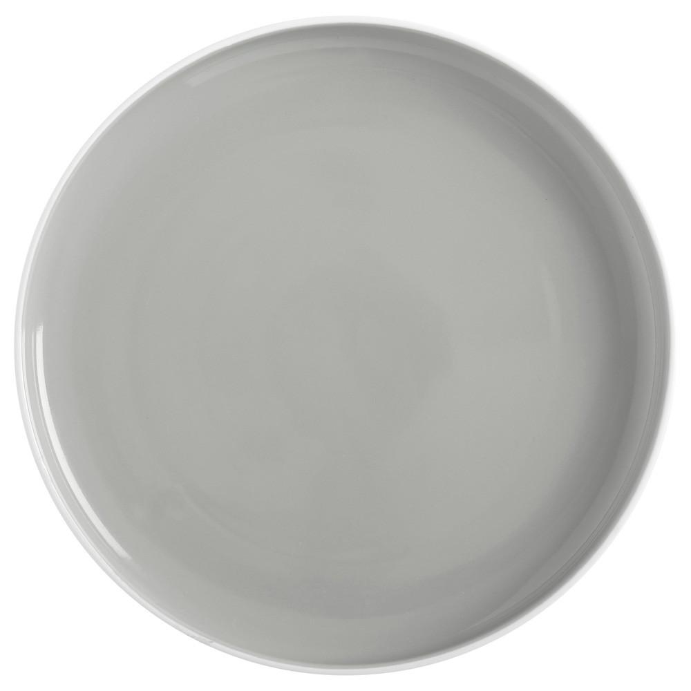 Тарелка обеденная TINT grey фарфоровая, диам. 20 см