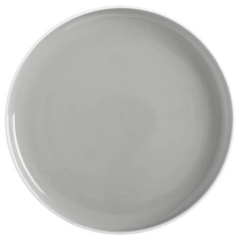 Тарелка обеденная TINT grey фарфоровая, диам. 20 см, фото 2