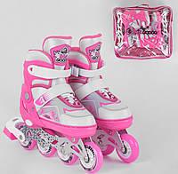 Дитячі роликові ковзани Best Roller, PU колеса, ролики 30-33