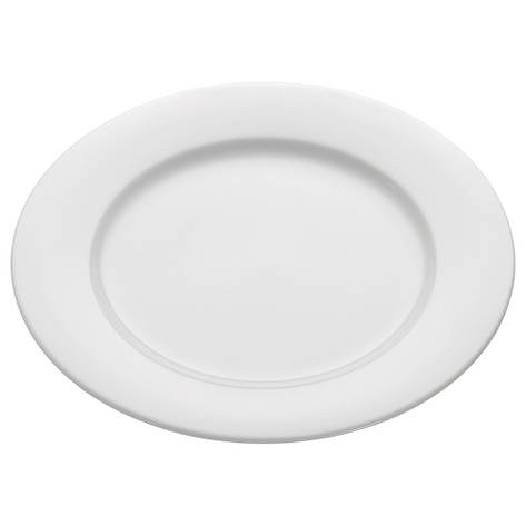 Тарелка обеденная WHITE BASICS ROUND фарфоровая, диам. 27,5 см, фото 2