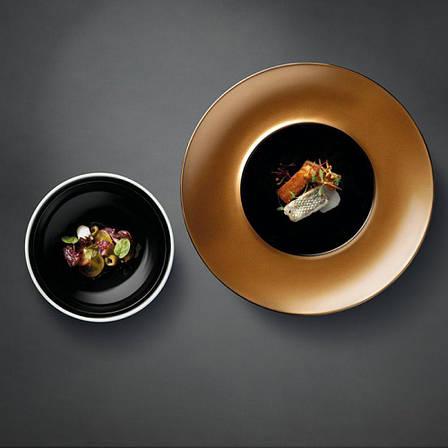 Тарелка для пасты GEM с крышкой, черная, фото 2
