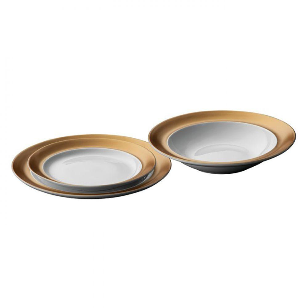 Набор тарелок GEM, белый, 3 шт.
