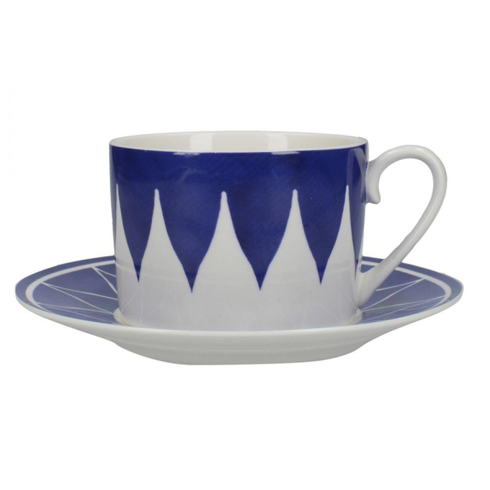 Чашка для чая с блюдцем Triangle Geo Cole Collection, фарфор, 290 мл
