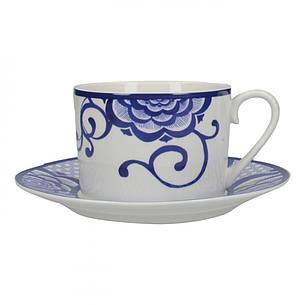 Чашка для чая с блюдцем Bold Floral Cole Collection, фарфор, 290 мл, фото 2