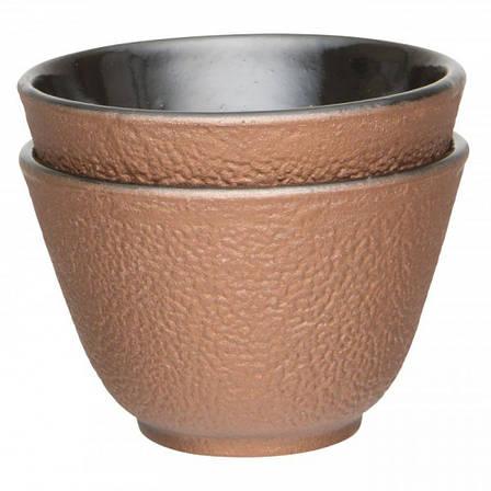 """Набор чашек для чая, чугун, """"золотой"""", 100 мл, 2 шт., фото 2"""