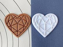 3Д Формочка ко Дню Влюбленных Бриллиантовое сердце | Вырубка на день святого Валентина | Вырубка для пряников