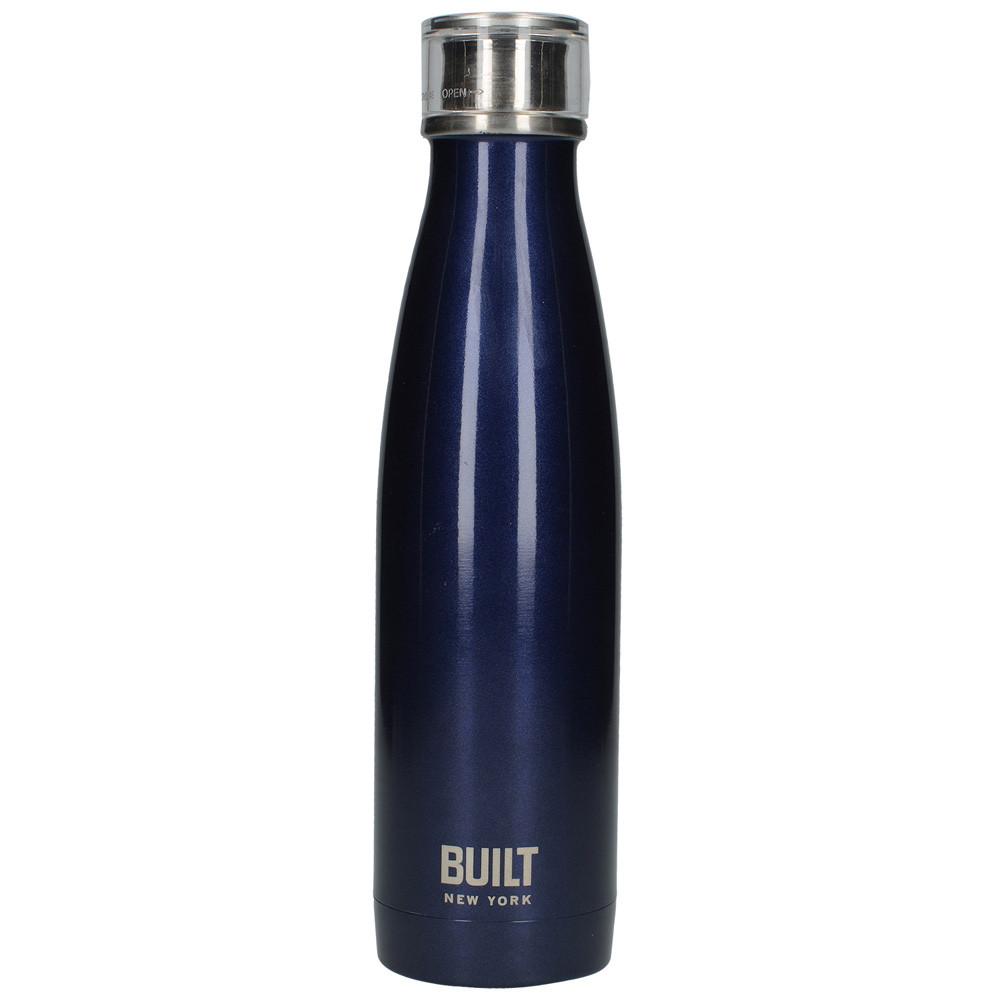 Бутылка металлическая Midnight Blue, с двойными стенками, синяя, 500 мл