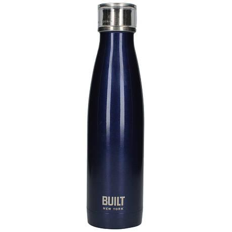Бутылка металлическая Midnight Blue, с двойными стенками, синяя, 500 мл, фото 2