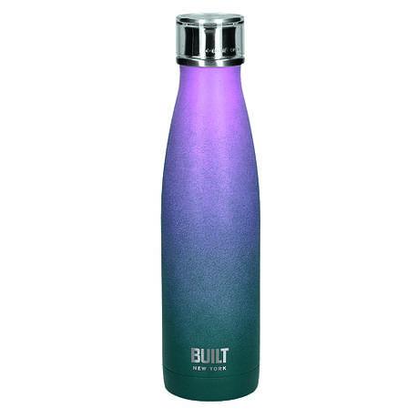 Бутылка металлическая Built, с двойными стенками, сине-розовая, 500 мл, фото 2