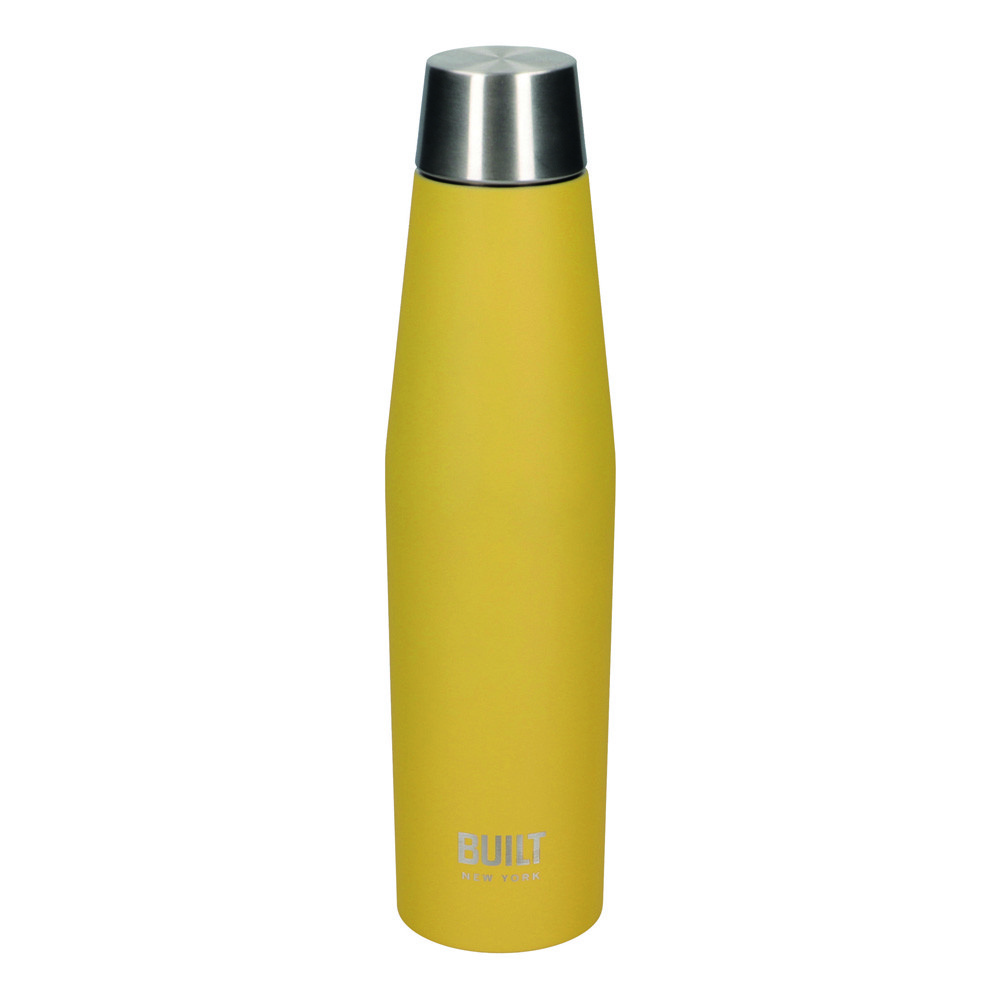 Бутылка металлическая Built Stylist, с двойными стенками, желтая, 540 мл