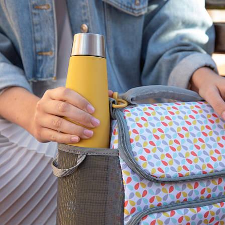 Бутылка металлическая Built Stylist, с двойными стенками, желтая, 540 мл, фото 2