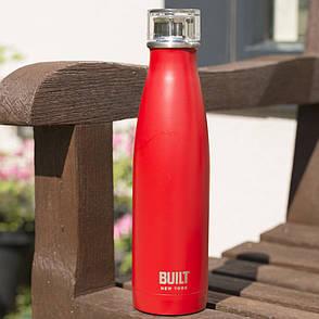 Бутылка металлическая Built Red, с двойными стенками, 500 мл, фото 2
