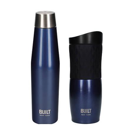 Бутылка металлическая Built Active, с двойными стенками, синяя, 540 мл, фото 2