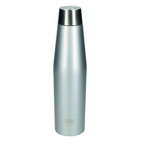 Бутылка металлическая Built Active, с двойными стенками, серая, 540 мл, фото 2