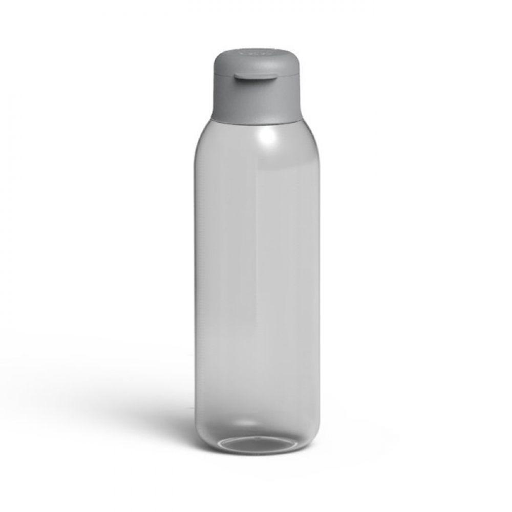 Бутылка для воды LEO, пластиковая, серая, 0,75 л