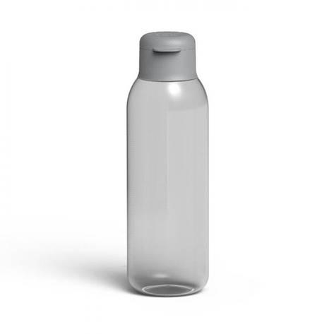 Бутылка для воды LEO, пластиковая, серая, 0,75 л, фото 2