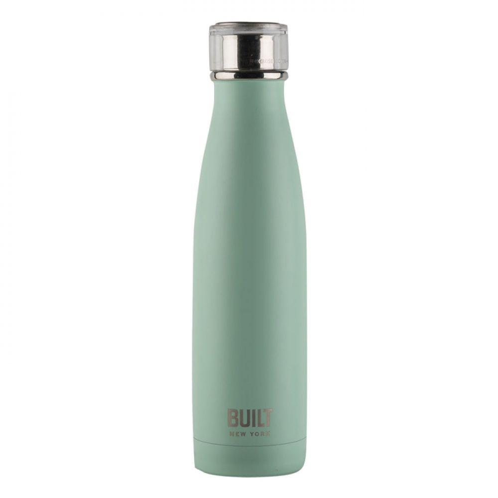 Бутылка металлическая Mint, с двойными стенками, салатовая, 500 мл