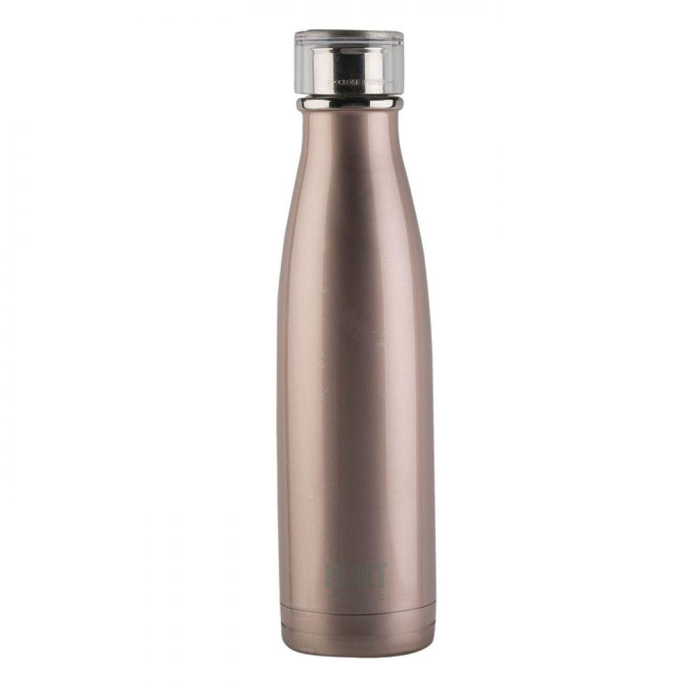 Бутылка металлическая Rose Gold, с двойными стенками, розовая, 500 мл