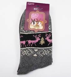 Шкарпетки ангора олені Корона 2353 розмір 37-42 сірі