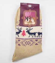 Шкарпетки ангора олені Корона 2353 розмір 37-42 бежевий