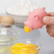 Сепаратор для яиц YolkPig 8,5 см силиконовый Peleg Design PE802, фото 2