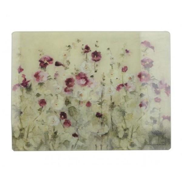 Доска кухонная Wild Field Poppies стекло 38х48 Creative Tops 5233433
