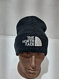 Стильная зимняя мужская шапка шерстяная с отворотом Турция Темно-серый, фото 7