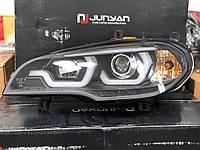 Передние фары (2 шт, темные) BMW X5 E-70 2007-2013 гг. / Передние фары БМВ X5 E-70