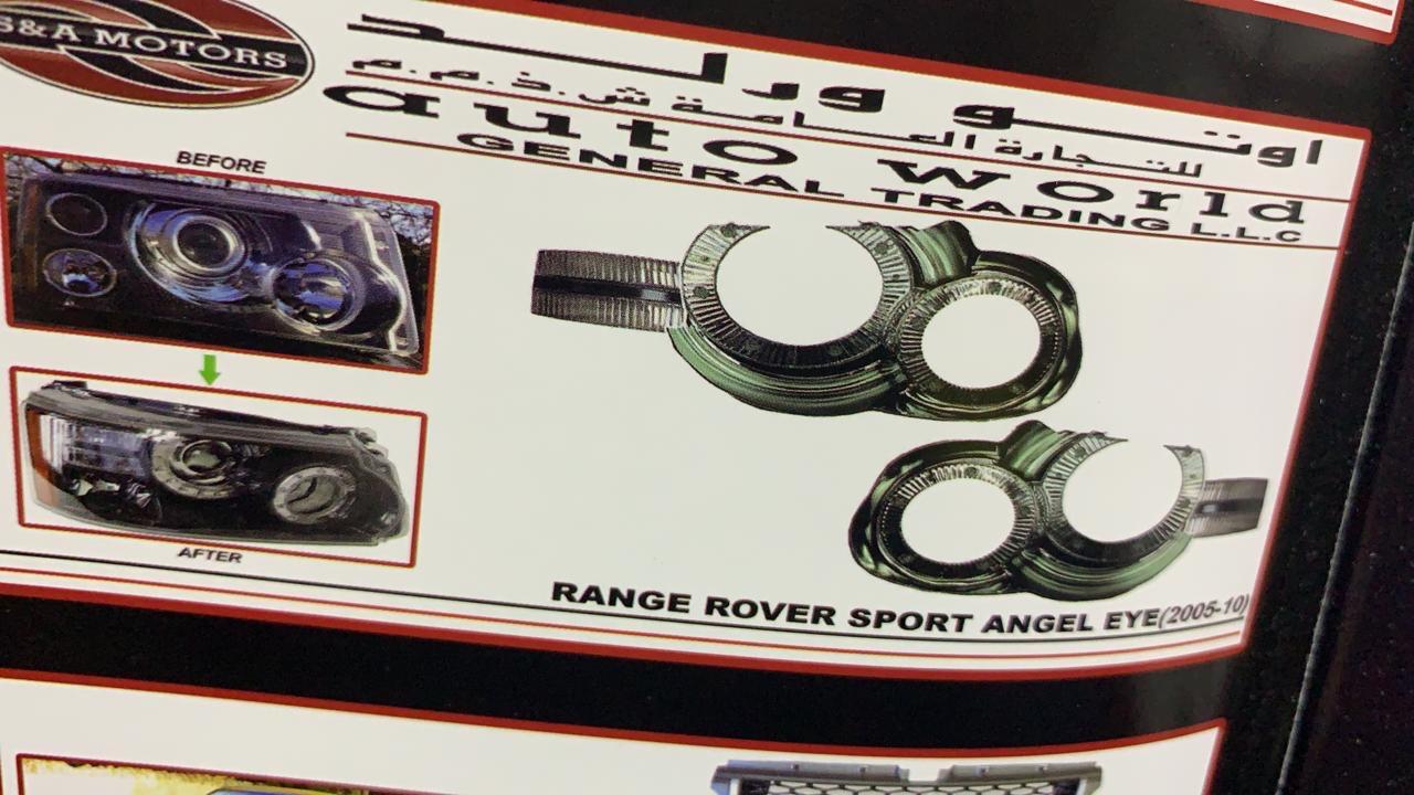 Ангельские глазки (2005-2010, 2 шт) Range Rover Sport 2005-2013 гг. / Передние фары Ленд ровер Рендж Ровер