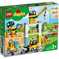 Конструктор LEGO Duplo Town Подъемный кран и строительство 123 детали (10933)