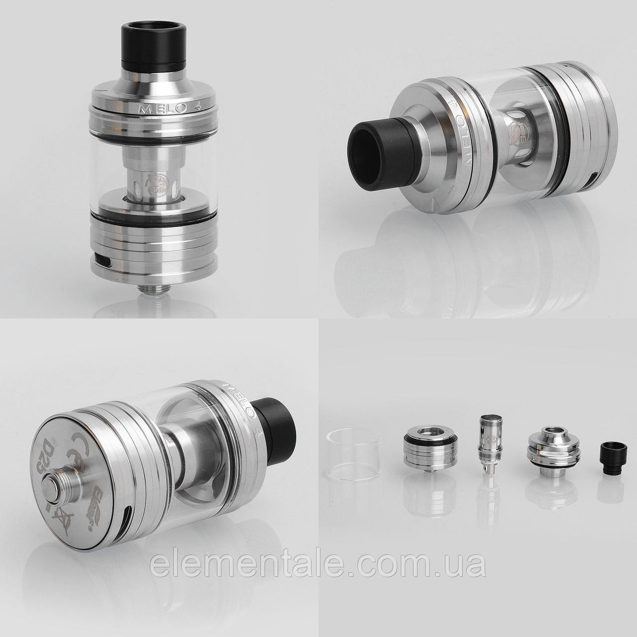 Атомайзер Eleaf Melo 4 D25 4.5ml/2ml 25 мм Silver