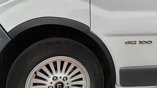 Nissan Primastar Накладки на колесные арки 2001-2007, черный металл / Накладки на арки Ниссан Примастар