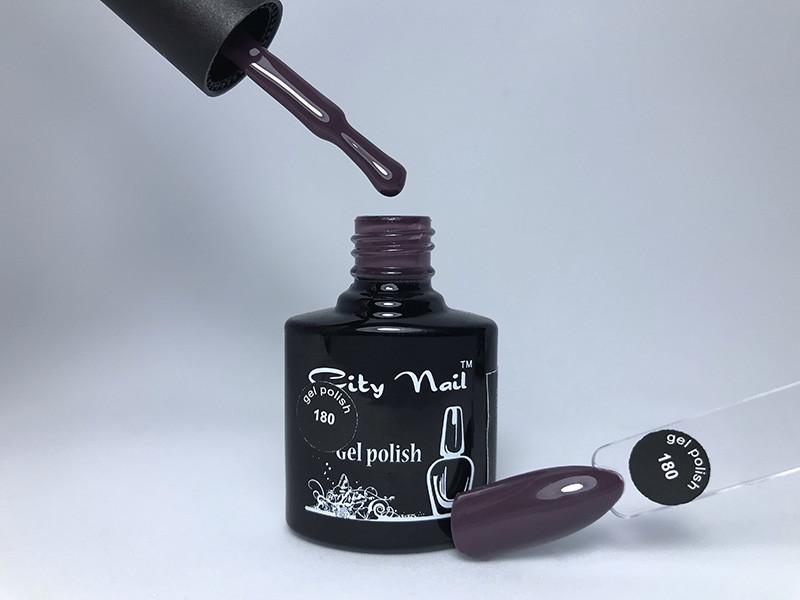 Баклажан гель лак CityNail 180 - Сливовий гель лак - Фіолетовий колір гель-лаку - Темні кольори гель лаків