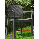 Комплект садових меблів Allibert by Keter Siena 4+1 Set Graphite ( графіт ), фото 5