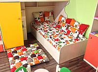 Наматрасник декоративный в детскую комнату из качественной ткани
