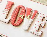 3Д Формочка до Дня Закоханих Серце-пончик | Вирубка на день святого Валентина | Вирубка для пряників, фото 3