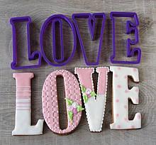 3Д Формочка ко Дню Влюбленных Буквы LOVE | Вырубка на день святого Валентина | Вырубка для пряников