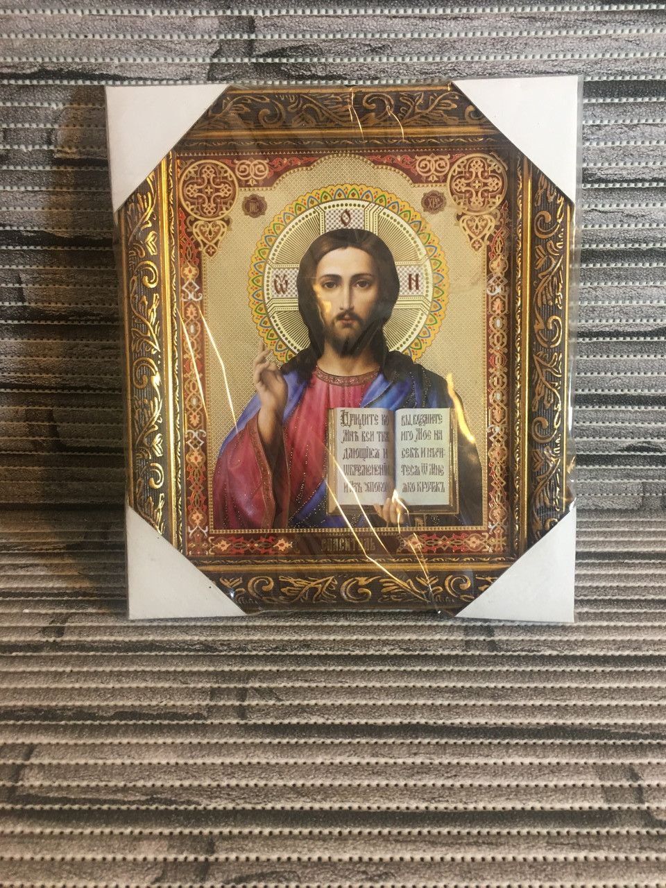 Икона Иисуса Христа. Икона Спаситель. Размер 42 см. на  33см.