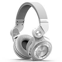 Беспроводные Bluetooth наушники Bluedio T2 Plus со встроенным радио Белый гарнитура bluetooth блутуз