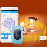 Детские умные смарт-часы с GPS Smart Watch UWatch Q50/G36 Light Blue, фото 7