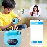 Детские умные смарт-часы с GPS Smart Watch UWatch Q50/G36 Light Blue, фото 8