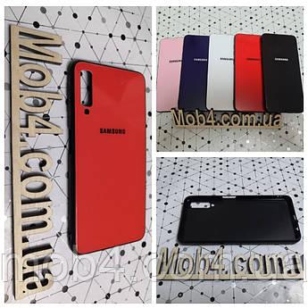 Чехол Стекло Бренд (обод силиконовый) для Samsung Galaxy (Самсунг Гелекси) A750 (A7 2018)