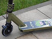 Трюковый самокат Maraton Sheriff Rapid 110 HIC с пегами, для трюков, колеса алюминиевые 110 мм