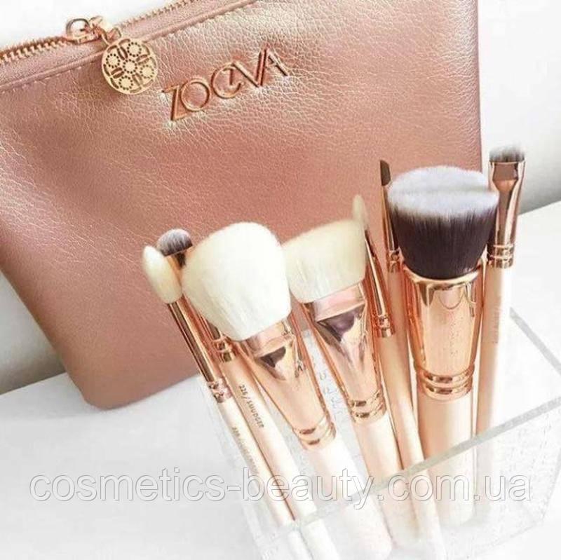 Кисти для макияжа Zoeva 8 шт. в большой косметичке (реплика).