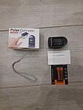 Пульсоксиметр, контроль содержания кислорода в крови, батарейки в комлекте., фото 3