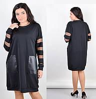 Платье свободного кроя большого размера 50-52 54-56 58-60